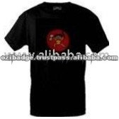 Sumo Man Flashing LED Black T-Shirt