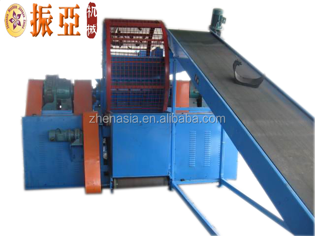Hot selling automatic rubber oil pipe shredder/recycle rubber crumb production machinery