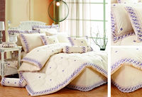 9PCS cushions bedskirt sets mid east lace king size polycoton comforter set of home