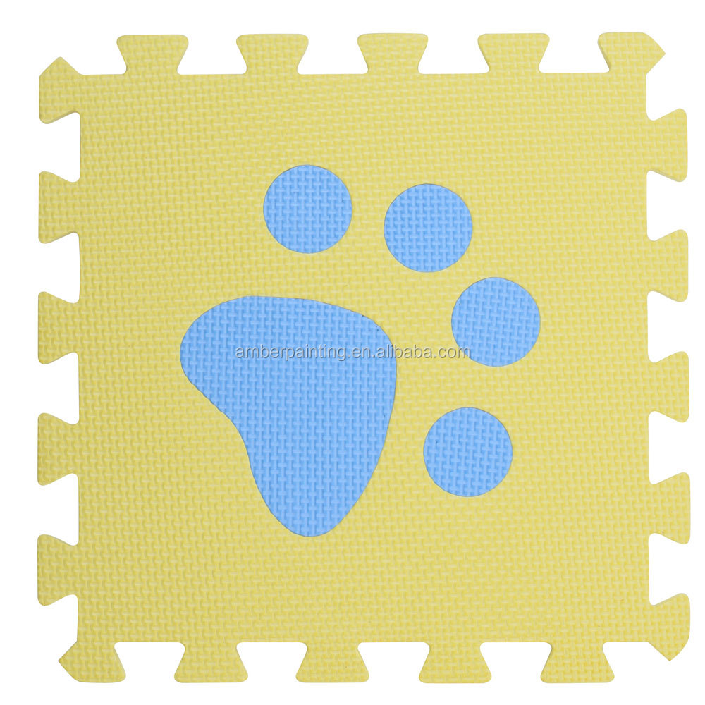 kids foam folding exercise play puzzle mat puppy footmark taekwondo mat