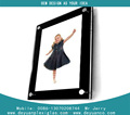 high quality Transparent Rotate Acrylic Photo Frame