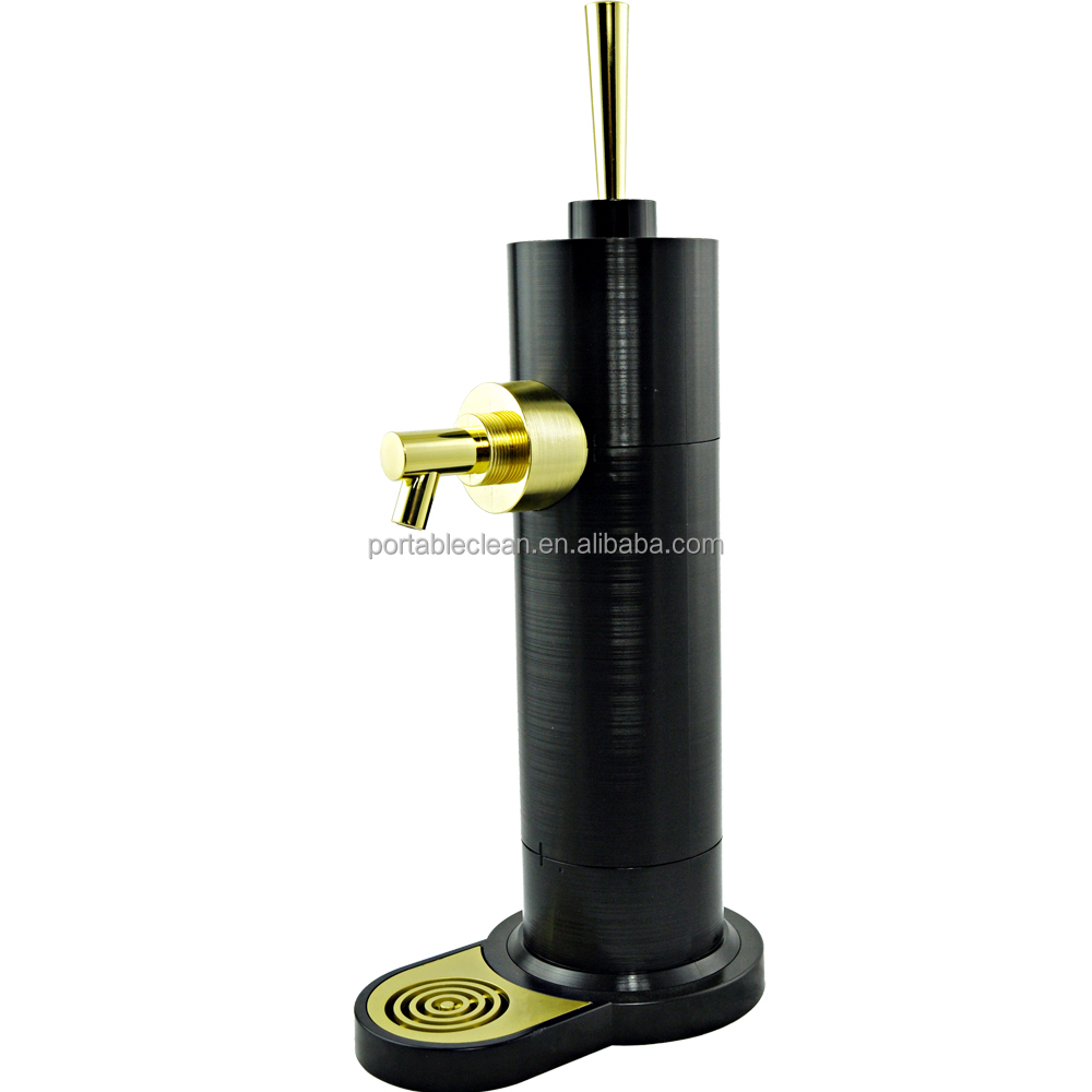 Japan Quality Beer Promotion Gifts Metal Texture Design Plastic Beer Tap Beer Tower Dispenser