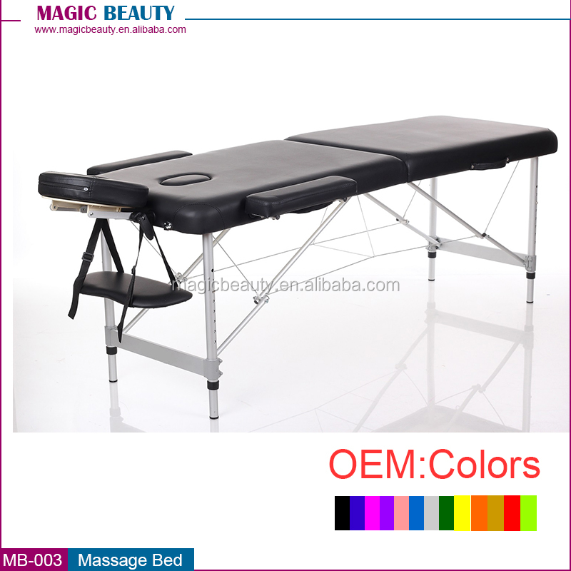 MB-003 2 Section aluminum massage table / beauty salon folding bed