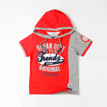 New Sleeve Printing Baby Boys Clothing Fashion Kids Hooded T-shirt