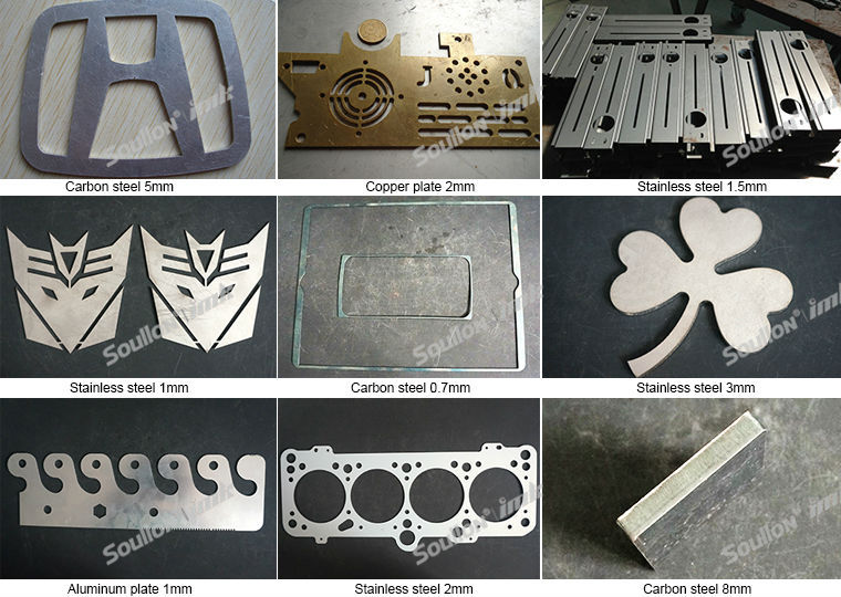 metal cutting laser machine cutting sample