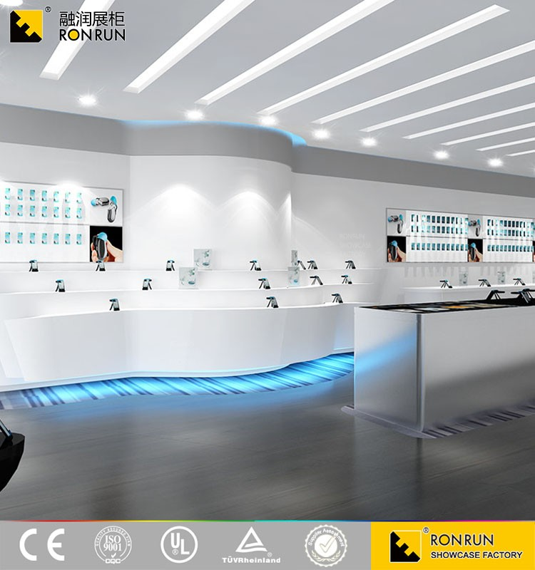 Modern Style Mobile Phone Shop Interior Furniture Design for Mobile Store Display