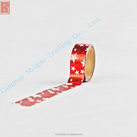 Hot sale foil tape foil masking tape custom printed washi DIY decorative tape