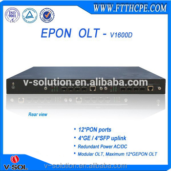 Maximum 12*GEPON OLT,Modular OLT, support FTTH Solution