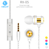 Super bass sound stereo plastic earbuds earphone flat with mic