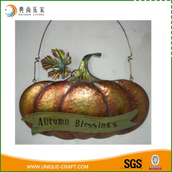 Wholesale Antique Hanging Metal Harvest Pumpkin