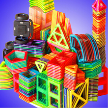 64/95/113/145pcs Magnetic Blocks Tiles Constructor Plastic 3D Model kits Toy Designers for Children New Year Gift