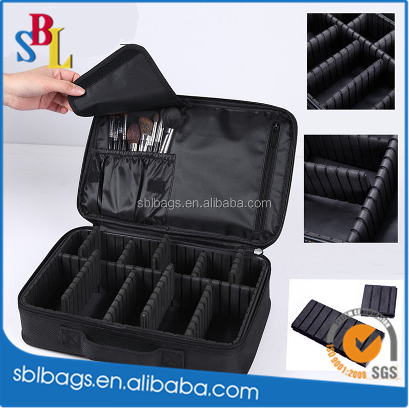 Hot Black Travel Cosmetic Bag Purse Organizer Makeup Pouch Toiletry Case Box