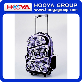 BG44147 Hot Sell Polyester Materail Simple And Convenient School Trolley Bag