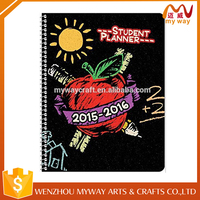 2016 school student cheap spiral day planner