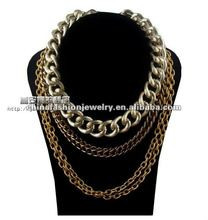 2012 Latest New Design Multi Row Unique Chain Necklace