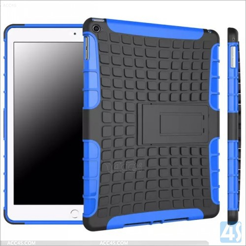 For iPad 2345 TPU and hard plastic combo case with the stand and screen protector