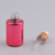 12ml round shaped uv gel red colored glass bottles with child proof dropper