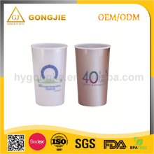 GJ-128, Taizhou,Gongjie, 2017 hot selling products, Custom Reusable Hard Plastic Cup with Lid and Straw