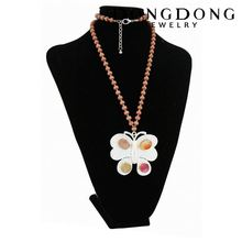 Factory price long-chain beaded necklace design pearl necklace pendant necklace
