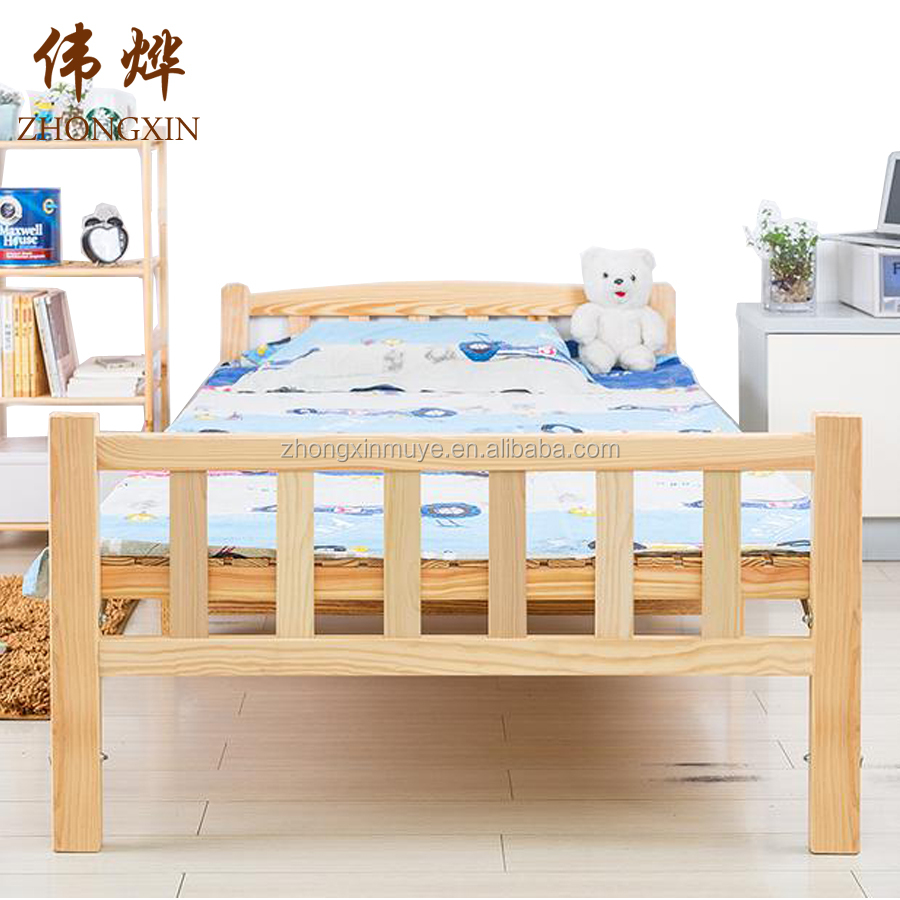 Modern models children's wooden bed with pine wood bed frame