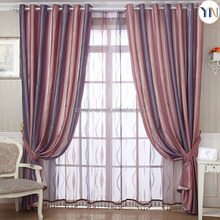 Printing curtain fabric/striped curtain with high grade blackout fabric