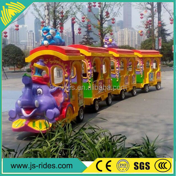 Theme park rides trackless elephant train for sale