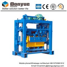 Small capacity low investment QT40-2 hollow cement block making machine sale in Ethiopia