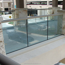 glass stair railing with good quality
