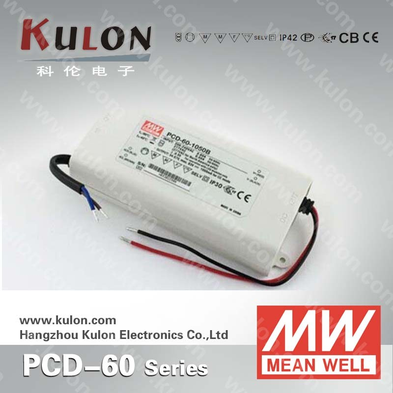 MeanWell PCD 60w 2000mA dimming function indoor led driver