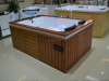 AD-601 Bathtub factory indoor hydromassage tube price bathtubs jazzi oal wood apron with TV and DVD