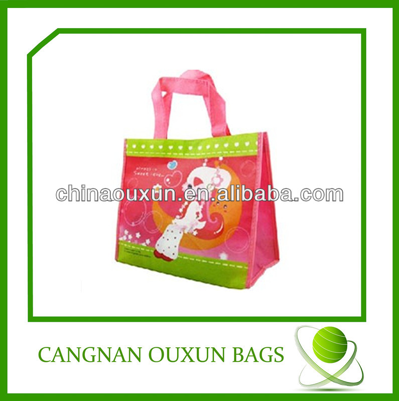 Advertising pp woven promotional reusable shopping bags