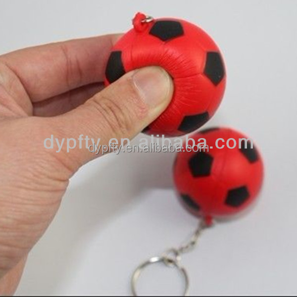 mini pu soccer ball with keychain