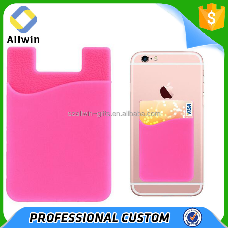 Card Sleeve Holder Credit Silicone Card Pouch For Cellphone