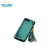 Luxury Fashion design Bling PU leather back cover PC case For Iphone 6/7