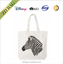 Zebra shopper bag cotton canvas tote bag