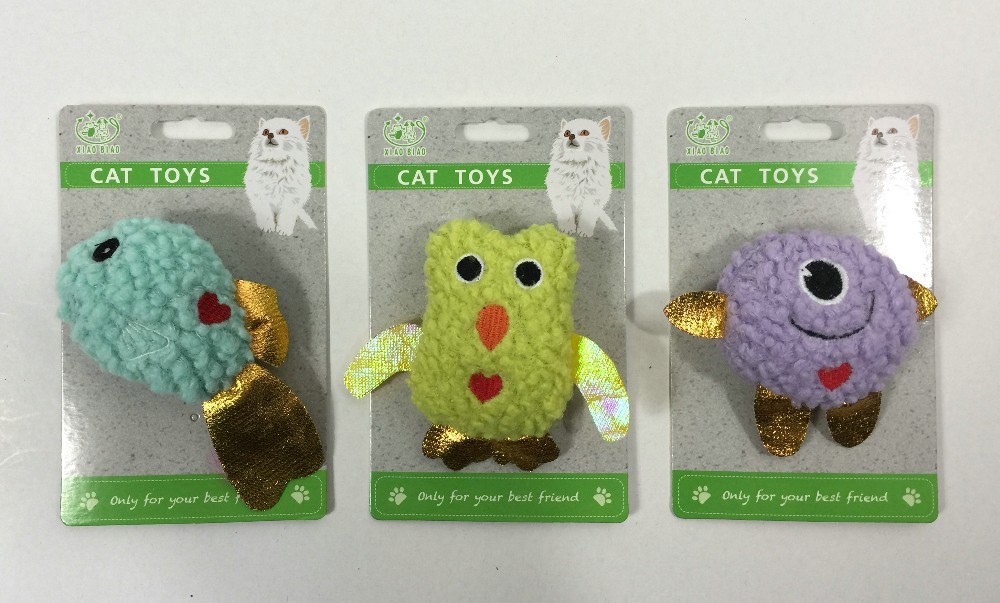 Unstuffed Cat Toys with Catnip and Crinkle Paper