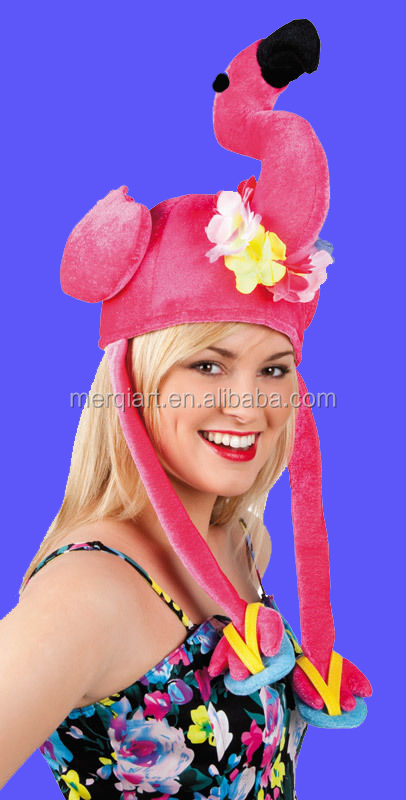 Christmas Office Party Novelty Fun Pink Flamingo Hat