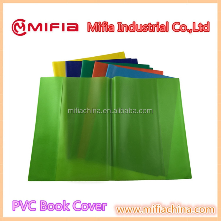 Custom all kinds school plastic pvc waterproof notebook book cover design