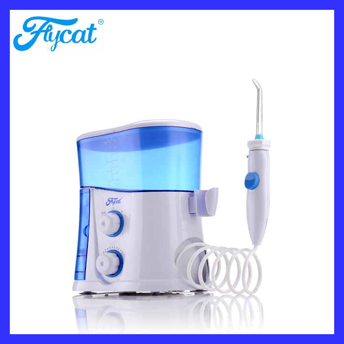 pulsation water cleaning teeth jet with 7 tips plastic dental flosser roll device
