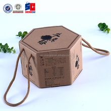 Unique shape brown corrugated paper box, special design gift packing box