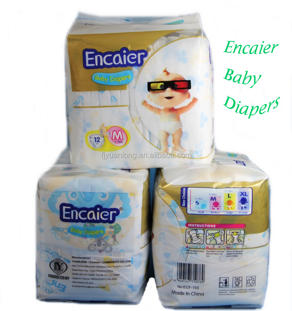 Ugrade High Quality Encaier disposable cloth-like African maket baby diapers