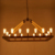 LED suspended ceiling decoration lighting hemp rope adjustable vintage hanging iron pendant lighting