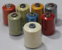 Anti static and cutting sewing thread with aramid material