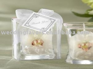 """White Orchid"" Gel Candle"