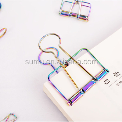 Rose Gold Decorative Wire Binder Clips,Paper Clips