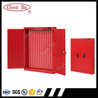 2016new design professional metal wall cabinet garage cd 2300 with 80 plastic hooks