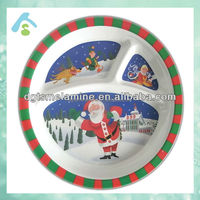 Three -section melamine dinner plate for kids