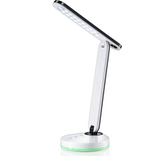 DH-89002 Funky White Table Lamp Base, Skinny Headboard Reading Light With Desk