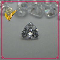 lab created cubic zircon triangle shape loose gemstone, fat triangle shape loose cz