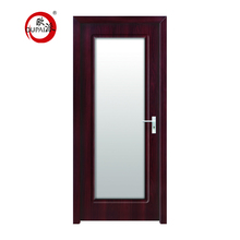 Cheap Waterproof PVC Toilet MDF Interior Door Glass MDF Door Designs